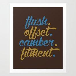 flush offset camber fitment v7 HQvector Art Print