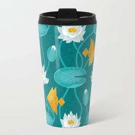 Tangram goldfish and water lillies Travel Mug
