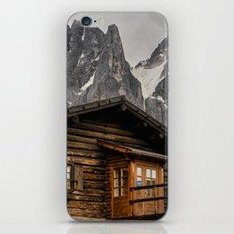 Alpine hut iPhone Skin