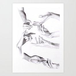 Need a hand? Art Print