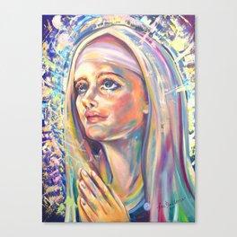Saint Clare of Assisi, potrait Canvas Print