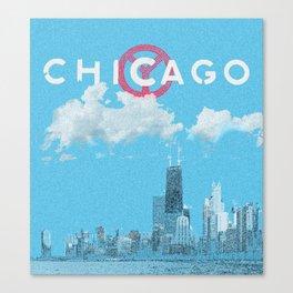 Chicago - Light blue Canvas Print
