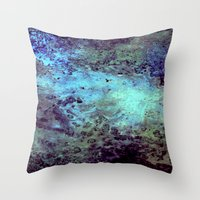 cosmic Throw Pillows featuring Cosmic by Kimsey Price