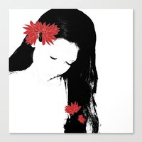 girly Canvas Prints featuring girly by annemiek groenhout