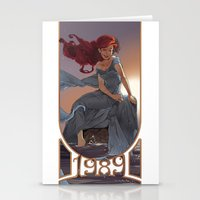 1989 Stationery Cards featuring NOUVEAU 1989 by Lettie Bug