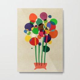 Happy flowers in the vase Metal Print