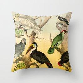 6 Birds Throw Pillow