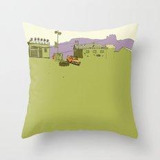 Frank's Cafe Throw Pillow