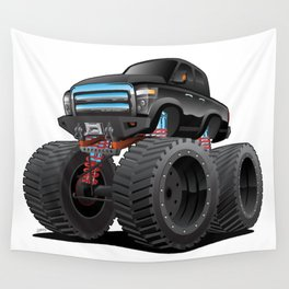 Monster Pickup Truck Cartoon Wall Tapestry