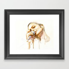 brian molko (honeyed) Framed Art Print