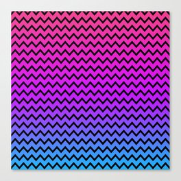 Rainbow Chevron Canvas Print