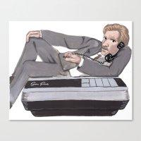 ferris bueller Canvas Prints featuring Ferris Bueller Takes It Off by C. Amanda Boutahorse