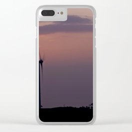 Wind farm at sunset Clear iPhone Case