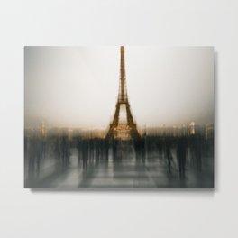 Eiffel Blur Metal Print