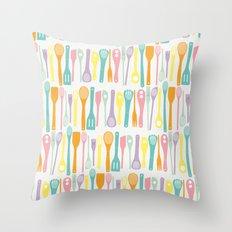 Candy Utensils Throw Pillow