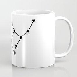 Virgo Star Sign Black & White Coffee Mug