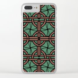 Stained Glass - Green and Red Clear iPhone Case