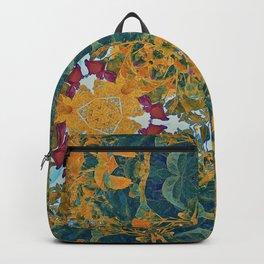 Orange and Green Flora Backpack