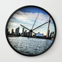 toronto Wall Clocks featuring Toronto by S.YassinPhotography
