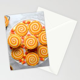 Halloween Candy Corn Cookies Stationery Cards