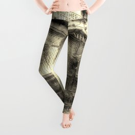 The Mayflower Pub London Vintage Leggings