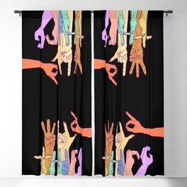 Wild Thing Hand Alphabet Illustration Blackout Curtain