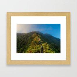 Haiku Stairs, Kaneohe, United States Framed Art Print