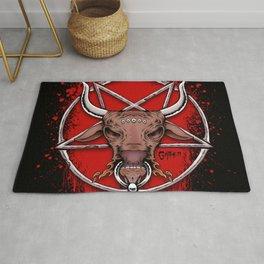 Bull Pentagram Rug