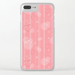 Heart shapes Clear iPhone Case