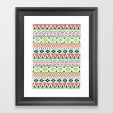 Aztec Stripe Framed Art Print
