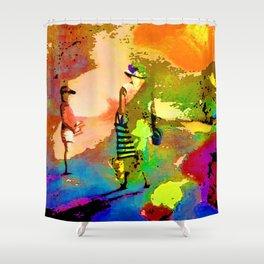 jardin multicolore Shower Curtain