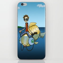 Ride the Fish iPhone Skin
