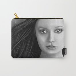 Summer Glau - The girl with the beautiful face B&W Carry-All Pouch