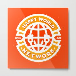 HAPPY WORLD NEWS NETWORK Metal Print
