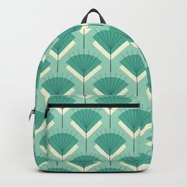 Mid-century Modern Radio Antenna Pattern / Teal Backpack