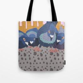 Pigeon Feast Tote Bag
