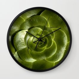 Green leave Wall Clock