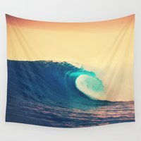 wave Wall Tapestries featuring Wave by SURFskate