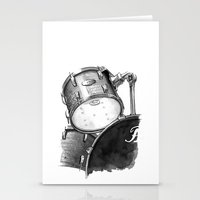 drums Stationery Cards featuring Drums by Ashley Silvernell Quick