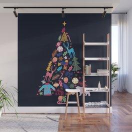 Magic of a christmas tree Wall Mural