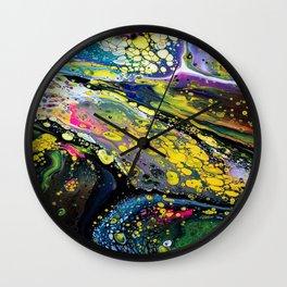 Acrylic Fluid Pour Art Wall Clock