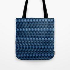 Dividers 07 in Blue over Black Tote Bag