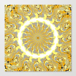Orange and Yellow Kaleidoscope 2 Canvas Print