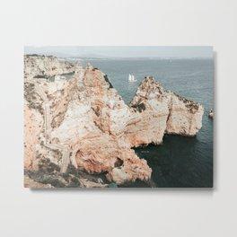 Rocky coastline of Ponta da Piedade, Portugal Metal Print