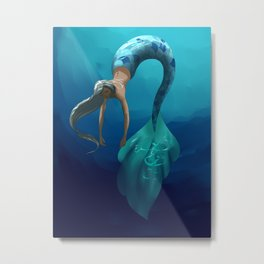 Mermaid with large scales Metal Print