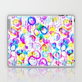 Sweet As Candy - colorful watercolor pattern by Lo Lah Studio Laptop & iPad Skin