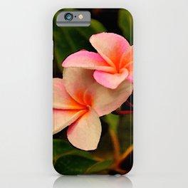 Hawaiian Orange Sherbet Plumeria iPhone Case