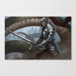 Wyrm knight Canvas Print