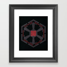 The Code of the Sith Framed Art Print
