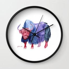 Technicolor Yak Wall Clock